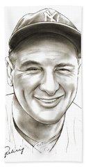 Lou Gehrig Hand Towel
