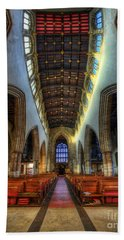 Loughborough Church - Nave Vertorama Hand Towel
