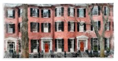 Hand Towel featuring the photograph Louisburg Square Beacon Hill Boston by Edward Fielding