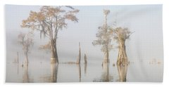 Louisiana Cypress Swamp On A Foggy Morning Five Hand Towel