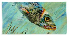 Hand Towel featuring the painting Louisiana Speckled by Dianne Parks