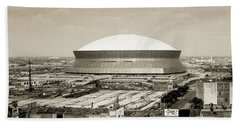 Hand Towel featuring the photograph Louisiana Superdome by KG Thienemann