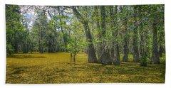 Louisiana Swamp In Gold Hand Towel