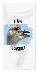 Lovable Hand Towel by Judi Saunders