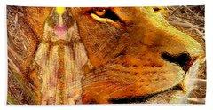 Bath Towel featuring the digital art Love 444 Cecil by Barbara Tristan