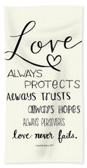 Love Always Bath Towel