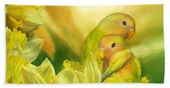 Love Among The Daffodils Hand Towel