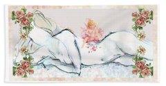 Love And Friendship - Valentine Card Bath Towel