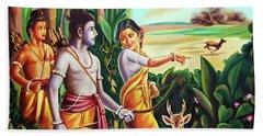Love And Valour- Ramayana- The Divine Saga Hand Towel