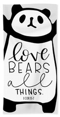 Love Bears All Things Hand Towel
