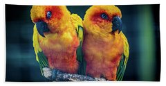 Hand Towel featuring the photograph Love Birds by Chris Lord