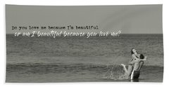 Love Birds Quote Bath Towel
