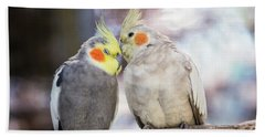 Love Birds Hand Towel by Stephanie Hayes