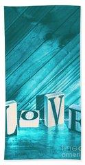 Love Blues Bath Towel