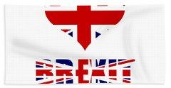 Love Brexit Bath Towel by Roger Lighterness