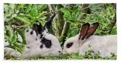 Love Bunnies In Costa Rica Hand Towel by Peggy Collins