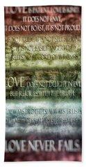 Hand Towel featuring the digital art Love Does Not Delight In Evil by Angelina Vick