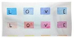 Love Hand Towel by Edwin Alverio