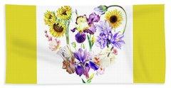 Hand Towel featuring the painting Love Flowers by Irina Sztukowski