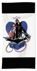 Love/hate Hand Towel