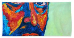 Hand Towel featuring the painting Love Him So Much by Ana Maria Edulescu