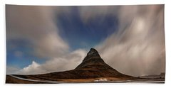 Hand Towel featuring the photograph Love In Nature Over Kirkjufell by Pradeep Raja PRINTS