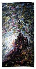 Love In Niagara Fall Hand Towel by Harsh Malik