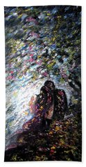 Love In Niagara Fall Bath Towel by Harsh Malik