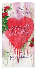Hand Towel featuring the painting Love In Your Heart by Marilyn Smith