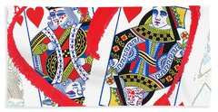 Love Is In The Cards Bath Towel