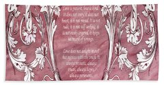 Hand Towel featuring the digital art Love Is Kind by Angelina Vick