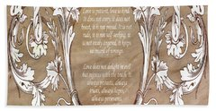 Hand Towel featuring the digital art Love Is Patient by Angelina Vick