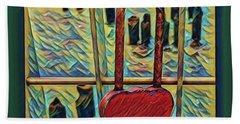 Love Locked On The Hudson Bath Towel by Bruce Carpenter