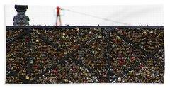 Love Locks Bridge Ile De Cite Paris Hand Towel