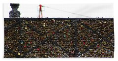 Love Locks Bridge Ile De Cite Paris Bath Towel