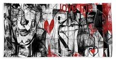Hand Towel featuring the digital art Love Me  by Sladjana Lazarevic