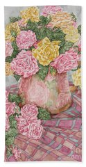 Love Of Roses Bath Towel by Kim Tran