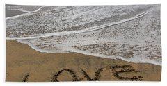 Love On The Beach Hand Towel by Heidi Smith