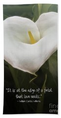 Bath Towel featuring the photograph Love by Peggy Hughes