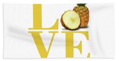 Love Pineapple Hand Towel