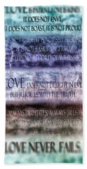 Hand Towel featuring the digital art Love Rejoices With The Truth by Angelina Vick