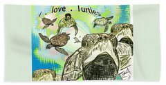 'love Sea Turtles Hand Towel
