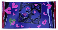 Love Soul Love Skeloton And The Subject Of Life Bath Towel