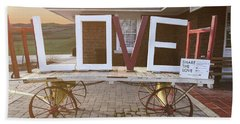 Love Train  Bath Towel by Melissa Messick
