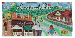Hand Towel featuring the painting Loveland Ohio by Diane Pape