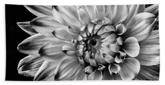 Lovely Black And White Dahlia Hand Towel