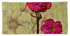 Lovely Dried Roses Bath Towel
