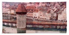 Lovely Lake Lucerne Hand Towel by Susan Maxwell Schmidt