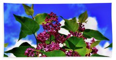 Lovely Lilac Blooms Bath Towel by Alexas Fotos