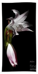 Hand Towel featuring the photograph Lovely Lilies Curling Grace by Felipe Adan Lerma